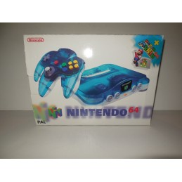 Nintendo 64 clear blue inc...